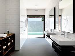 melbourne beveled subway tile white bathroom contemporary with large window blackout cellular shades double shower