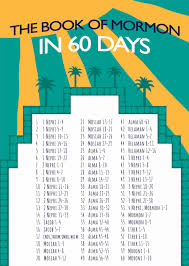 Book Of Mormon In 60 Days Reading Chart
