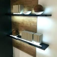 floating shelf with lights led bar light lighted wall info diy