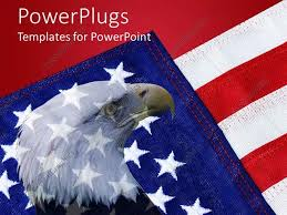 Powerpoint Template American Flag With Bald Eagle In
