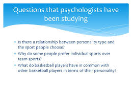 personality lesson of  write an essay to discuss the  is there a relationship between personality type and the sport people choose