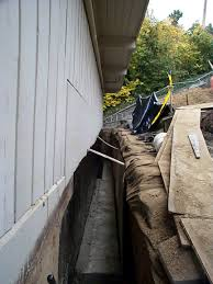 Exterior Foundation Footing Drain For Crawl Space Allied - Exterior drain pipe