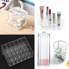 Aliexpress.com : Buy Acrylic Cosmetic Lipstick Organizer Drawer Makeup Case  Storage Cotton Pad Swabs Q tip Holder Jewelry Storage Contain Box ACN from  ...