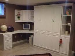 home office with murphy bed. White-8-raised-panel-home-office-murphy-bed Home Office With Murphy Bed