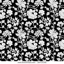 Flower Pattern Black And White