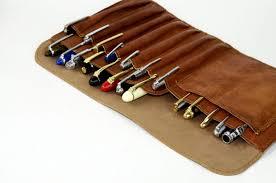 pen case genuine premium leather roll up