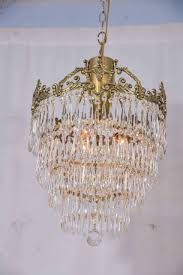 chandelier small crystal chandelier pendant lighting vintage intended for most recently released crystal and brass