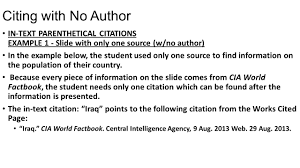 Apa Annotated Bibliography With No Author How To Cite A Website