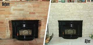 painted brick fireplace before and after painting red brick fireplace before after ideas