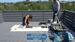 step mix the concrete quikrete countertop home depot outdoor kitchen