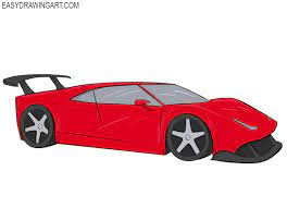 How To Draw A Ferrari Easy Drawing Art