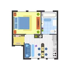 Apartment Floor Plan With Furniture Top View Basic Room Of Home Stunning Apartments Floor Plans Design Style