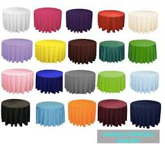 14 packs 120 inch round tablecloth polyester wedding 5 feet table