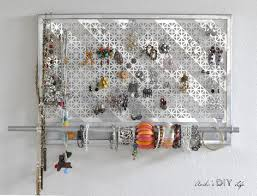 i am in love with this jewelry organizer it is so easy to make