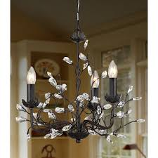 iron and crystal 3 light chandelier retails for 139 99