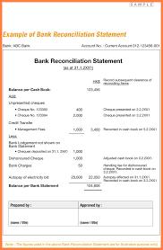 bank reconciliation form 11 bank reconciliation statement format bussines proposal 2017