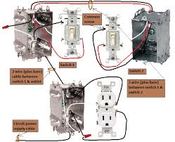 wiring diagram for two switches and one outlet images diagram two outlet 3 way switches half switched switch electrical wiring