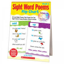 Counting Poems Flip Chart Language Arts Sight Words
