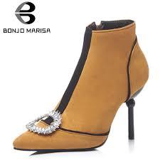 <b>BONJOMARISA New Brand</b> Women Ankle Boots Plus Size 32 48 ...