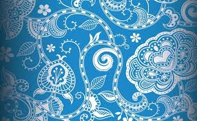 Blue Pattern Background Unique Floral Pattern Background Seamless Vintage Style Blue Decoration