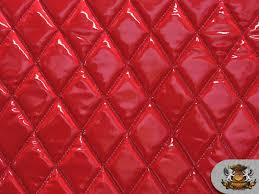 Vinyl QUILTED FOAM GLOSSY RED Fabric w/ 3/8  FOAM BACKING Upholstery & MSRP: $32.98 Adamdwight.com
