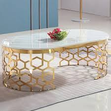 modern oval coffee table marble top