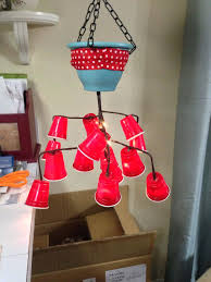 red solo cup string lights mini chandelier