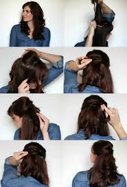 twisted half up hair tutorial