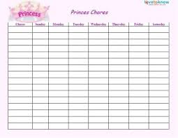 Printable Lists And Charts Free Printable Chore Lists For Kids For Blank Chore Chart