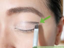 image led apply natural makeup for brown eyes step 5