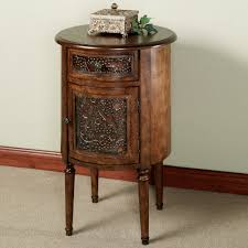 antique end table living room with unique drawer door furniture and four wooden legs