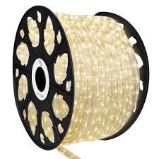Led Rope Lights Home Depot Wintergreen Lighting 150 Ft 1800 Light Warm White Led Rope Light Kit