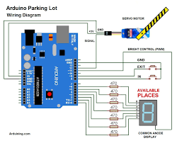 breadboard wiring diagram images arduino parking lot filled