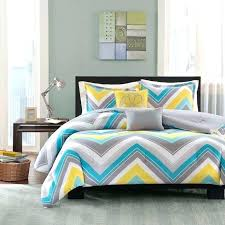 yellow and grey bedding sporty blue teal yellow grey white chevron stripe comforter set full queen yellow and grey bedding