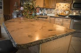 an old world style concrete countertop in a kitchen