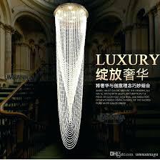 chandeliers long crystal chandelier led modern chandeliers big round lighting fixture hotel home indoor hanging