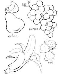 Fruit And Vegetable Colouring Pages Free Coloring Fruits Veggies