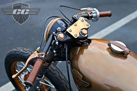 copper steampunk honda cb350 cafe chappell customs