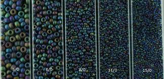 Seed Bead Size Chart Seed Bead Sizing Linda K Landy