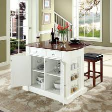 Small White Kitchen Picture Of Small White Kitchen Island With Storage Plus Stools
