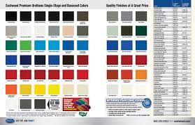 Eastwood Color Chart Ew Branded Color Paint Chart