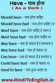 Hindi To English Translation Tense Chart Learn Modals In Hindi Lenguage English Learning Spoken