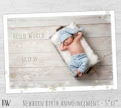 birth announcement templates birth announcement template baby boy birth announcement etsy