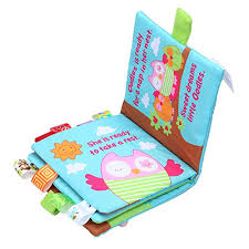 NEEDRA Fabric Activity Crinkle Cloth Books for Babies, Handmade ...