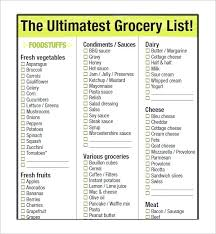 Free Printable Blank Grocery List Free Printable Grocery List Template Mcari Co
