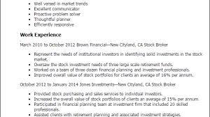 Stock Broker Resume Template Best Design Tips
