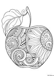 Apple Coloring Page This Beautiful Apple