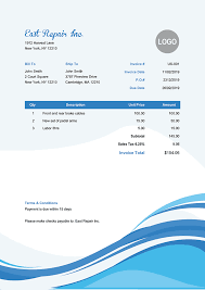 Custom Invoice Format Custom Business Invoice Forms Order Form Printable Planner