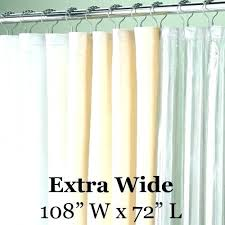 wide shower curtain extra speciality sized vinyl liner 108 inch long curtai
