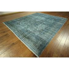 elegant blue overdyed area rug for e of a kind antique blue overdyed hand knotted wool area credit com
